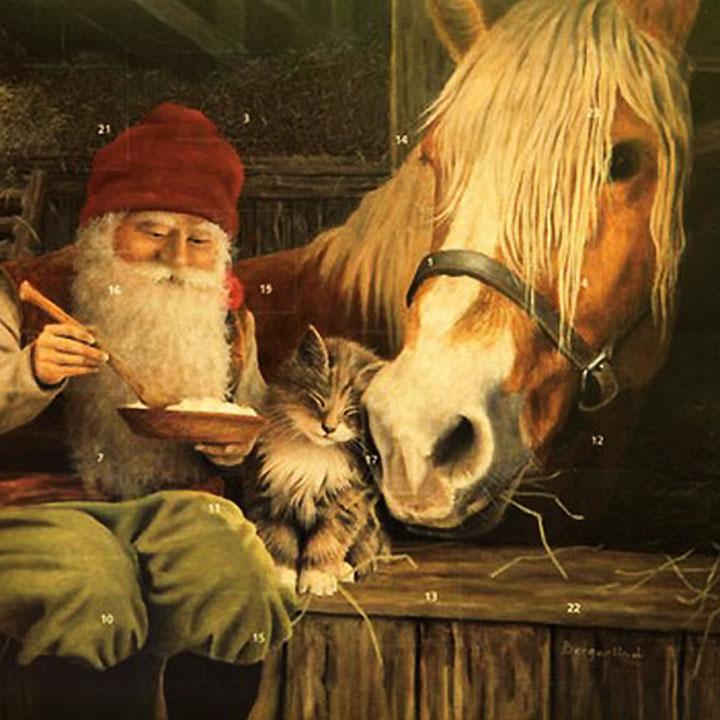 Pferde Weihnachtskalender.Adventskalender Tomte Mit Pferd Stöberkiste Design Mode